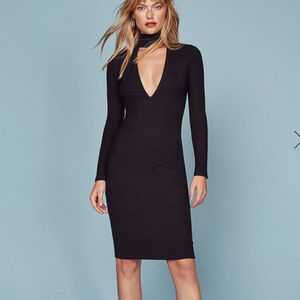Reformation Blaise Deep-V Dress Small